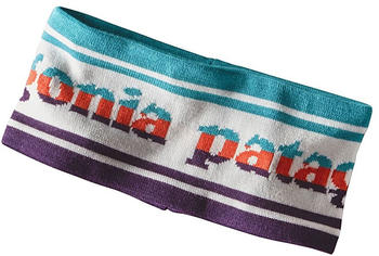 Patagonia Lined Knit Headband park stripe band/birch white
