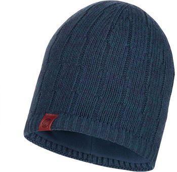 Buff Knitted & Band Polar Fleece Hat Jeroen dark denim