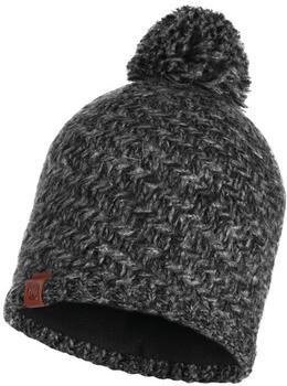 Buff Buff Knitted & Band Polar Fleece Hat Agna black
