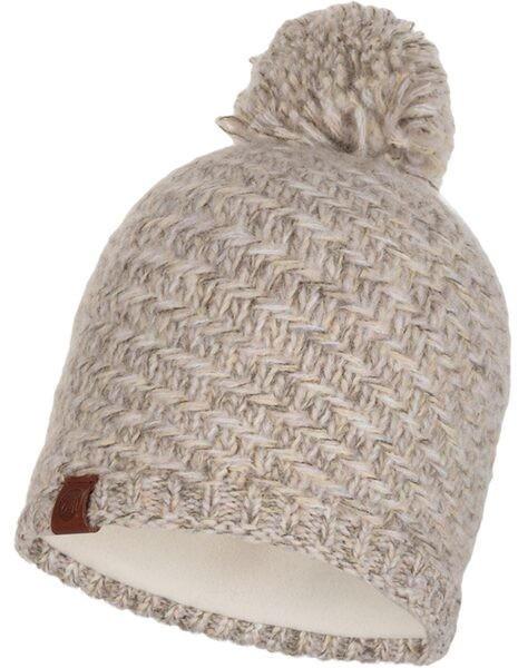 Buff Buff Knitted & Band Polar Fleece Hat Agna sand