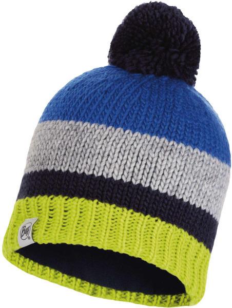 Buff Knitted & Band Polar Fleece Hat Knut cape blue
