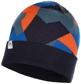 Buff Knitted Hat Ran navy