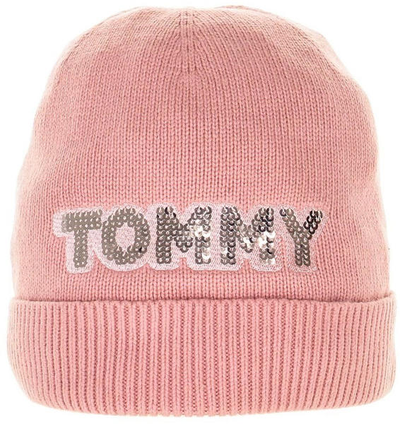 Tommy Hilfiger Patch Knit Beanie pink (AW0AW06184)