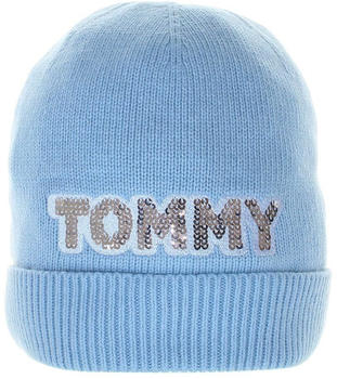 Tommy Hilfiger Patch Knit Beanie light blue (AW0AW06184)