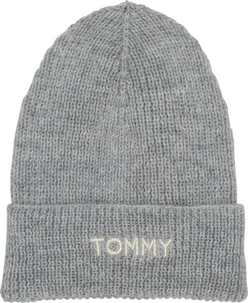 Tommy Hilfiger Effortless Knit Beanie light grey heather (AW0AW05950)