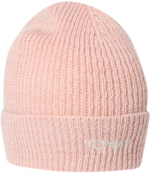 Tommy Hilfiger Effortless Knit Beanie silver pink (AW0AW05950)