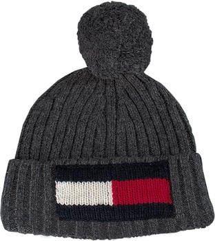 Tommy Hilfiger Big Flag Beanie charcoal heather (AM0AM03992)