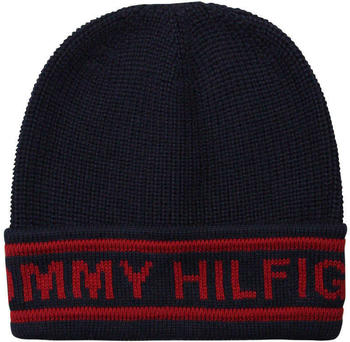 Tommy Hilfiger Selvedge Knit Beanie marine (AM0AM03986)
