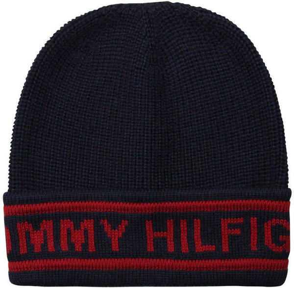 Tommy Hilfiger Selvedge Knit Beanie marine (AM0AM03986)