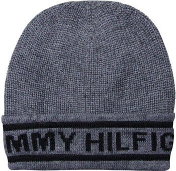 Tommy Hilfiger Selvedge Knit Beanie light grey heather (AM0AM03986)