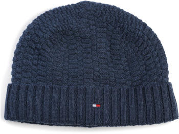 Tommy Hilfiger Structured Knit Beanie sky captain heather (AM0AM02449)