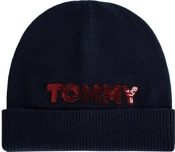 Tommy Hilfiger Patch Knit Beanie navy (AW0AW06184)