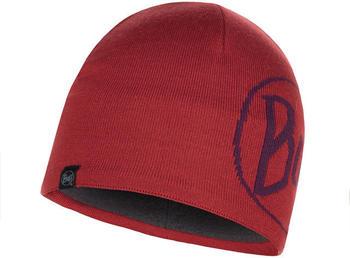 Buff Knitted & Band Polar Fleece Hat Lech tibetan red