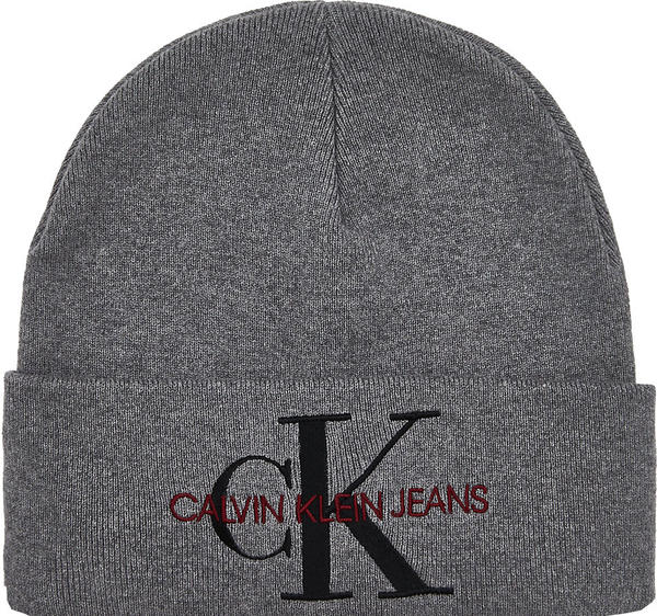 Calvin Klein Logo-Beanie mid grey heather