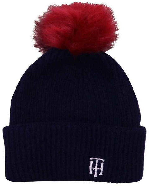 Tommy Hilfiger Monogram Alpaca Wool Pom Pom Beanie corporate