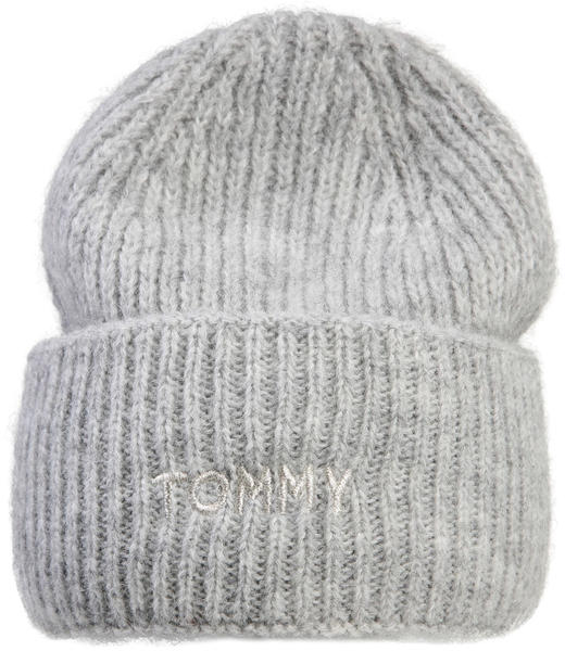 Tommy Hilfiger Alpaca Blend Embroidery Beanie mid grey melange