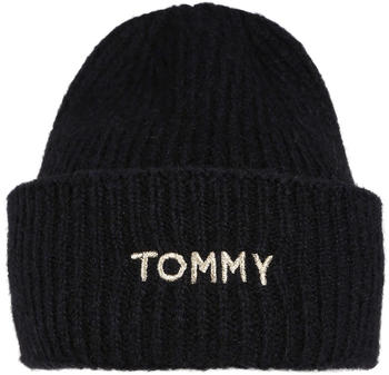 Tommy Hilfiger Alpaca Blend Embroidery Beanie black