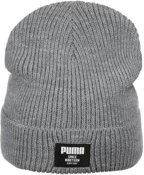 Puma Classic Ribbed Beanie medium gray heather