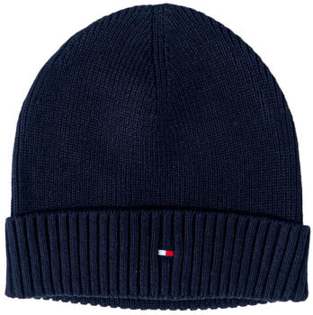 Tommy Hilfiger Pima Cotton Blend Flag Embroidery Beanie desert sky