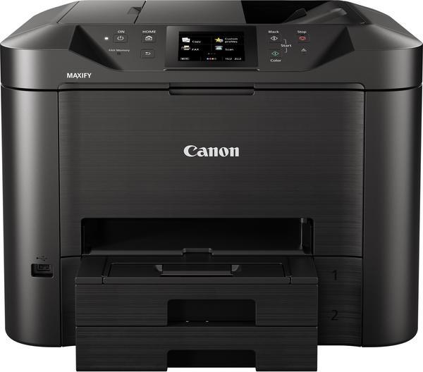 Canon maxif mb5450Multifunktionsgerät Tintenstrahldrucker 24ipm in schwarz und weiß 15,5ipm Farben 600x 1200dpi schwarz/anthrazit