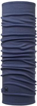 Buff Midweight Merino Wool solid estate blue