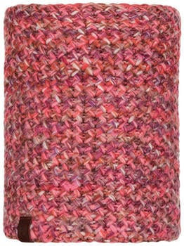 Buff Knitted & Polar Fleece Neckwarmer Margo flamingo pink