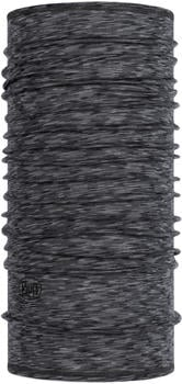 Buff Lightweight Merino Wool graphite multi stripes