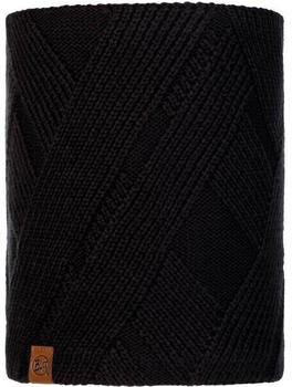 Buff Knitted & Fleece Neckwarmer Raisa black
