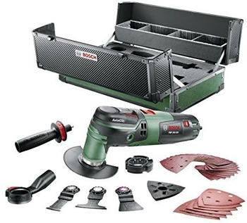 Bosch Multifunktionswerkzeug PMF 250 (250 Watt, 39tlg. Zubehör-Set, Ju