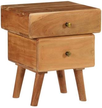 vidaXL Bedside Table Acacia Wood 40 x 35 x 49 cm