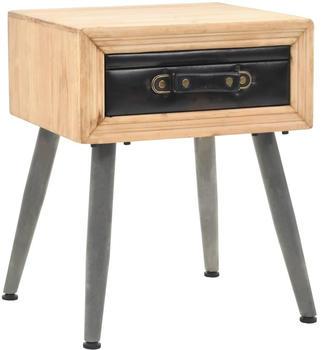 vidaXL Bedside Table Suitcase Pine Wood 43 x 38 x 50 cm