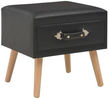 vidaXL Bedside Table Case Fake Leather 40 x 35 x 40 cm