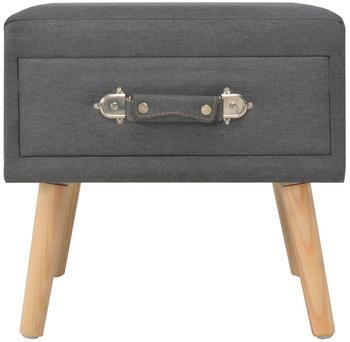 vidaXL Bedside Table Case Fabric Grey 40 x 35 x 40 cm
