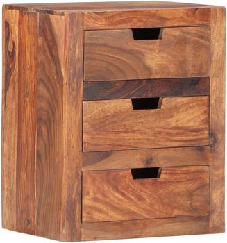 vidaXL Bedside Table Solid Wood 40 x 20 x 50 cm
