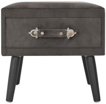 vidaXL Bedside Table Case Velvet Grey 40 x 35 x 40 cm