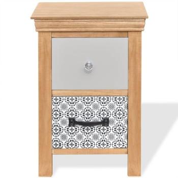 vidaXL Bedside Table Drawers Pattern 34 x 34 x 46 cm