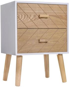 HomCom Bedside Table Scandinavian Design 40 x 30 x 56 cm