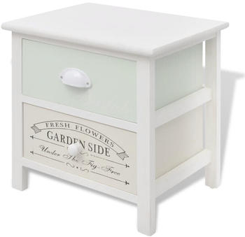 vidaXL Bedside Table in Wood French Style