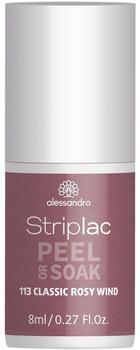 Alessandro Striplac Peel or Soak - 113 Classic Rosy Wind (8ml)