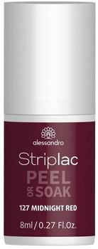 Alessandro Striplac Peel or Soak - 127 Midnight Red (8ml)