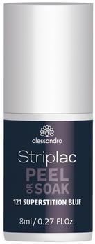 Alessandro Striplac Peel or Soak - 121 Superstition Blue (8ml)