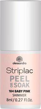 Alessandro Striplac Peel or Soak Nr. 104 - Baby Pink (8ml)
