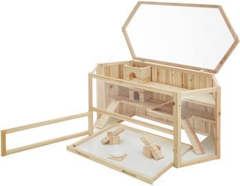 TecTake Hamsterkäfig aus Holz braun (403227)