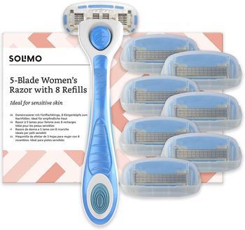 Amazon Solimo Damenrasierer mit 5-fach-Klinge