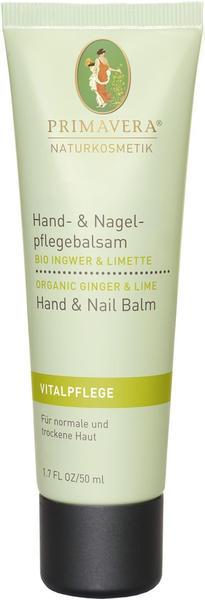 Primavera Life Ingwer Limette Hand & Nagelpflegebalsam (50 ml)