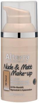 Alterra Nude & Matt Make-up 02 Sand 30 ml