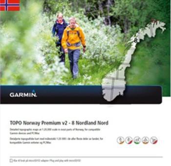 Garmin Topo Norwegen Premium 8 Nordland Nord