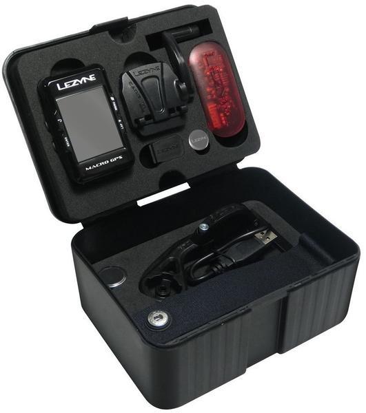Lezyne Macro GPS inkl. Cadence Speed Flow Sensor schwarz