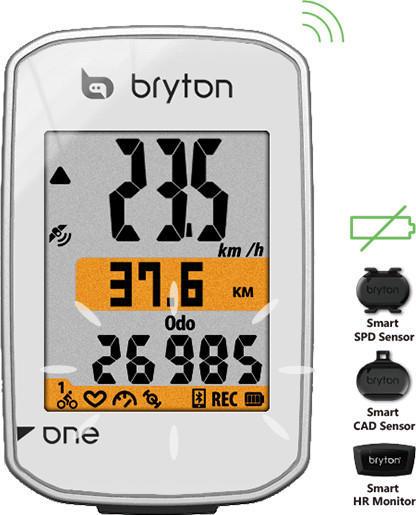 Bryton Rider One E Fahrradcomputer weiß 2018 Computer GPS