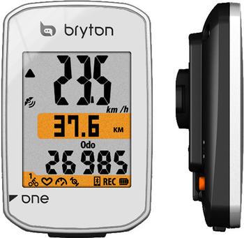 Bryton Rider One C Fahrradcomputer inkl. Trittfrequenzsensor weiß 2018 Computer GPS mit Geschwindigkeitsmesser, Nd